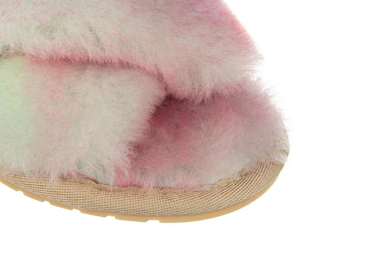 Kapcie emu mayberry tie dye fairly floss 119137, róż, futro naturalne  - nowości 13