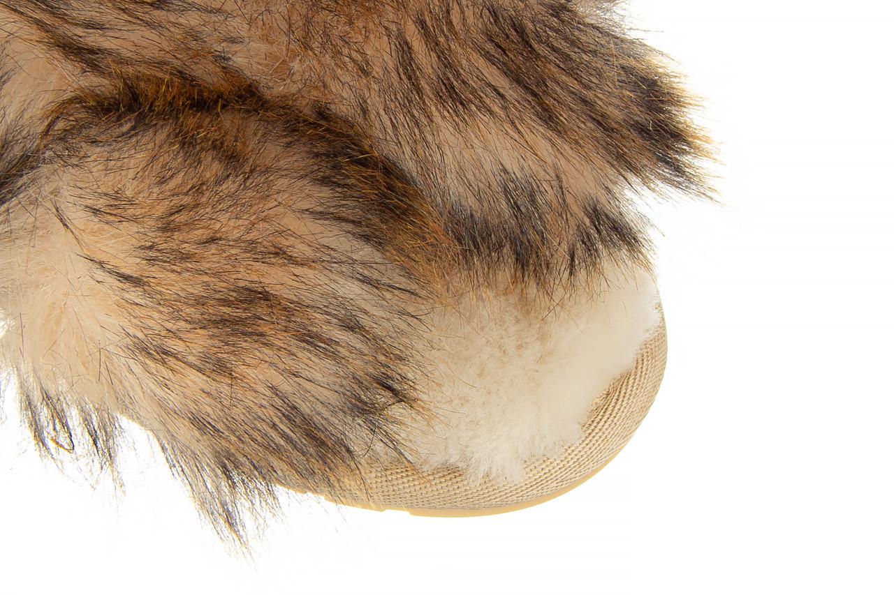 Kapcie emu mayberry lava chestnut 119134, beż, futro naturalne  - trendy - kobieta 13