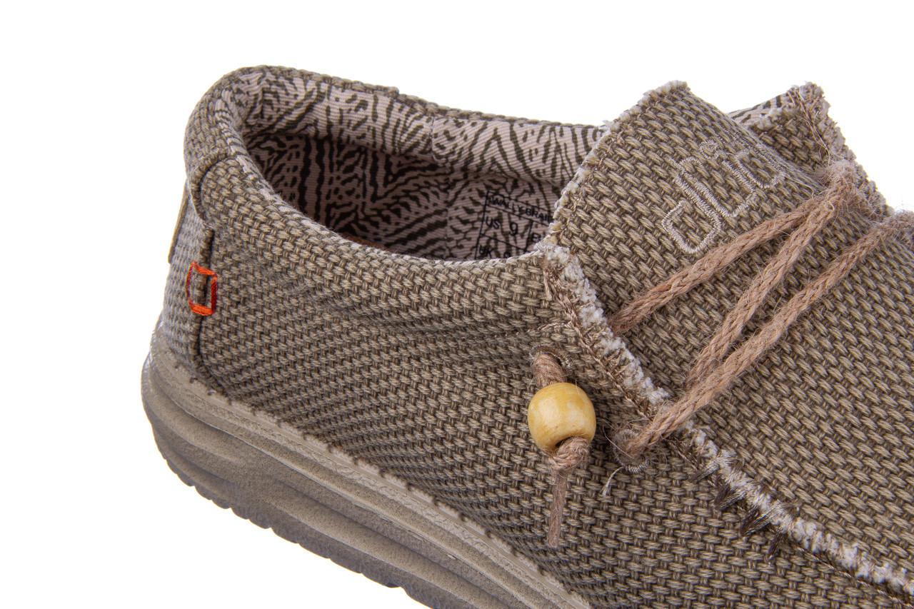 Półbuty heydude wally braided nut 003198, beż, materiał 15