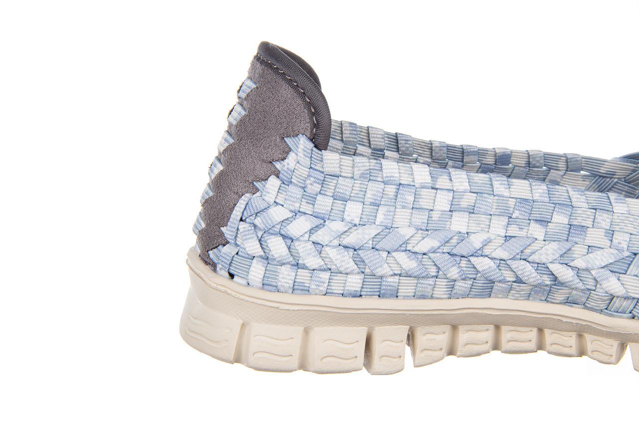 Półbuty rock carioca perena blue smoke 032826, niebieski/ biały, materiał - wsuwane - półbuty - buty damskie - kobieta 14