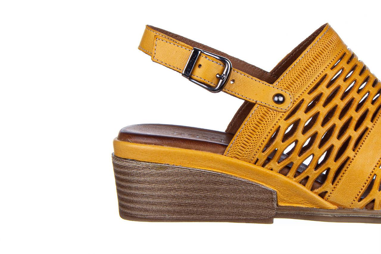 Sandały bayla-161 061 1600 noce 161200, żółty, skóra naturalna  - bayla - nasze marki 14