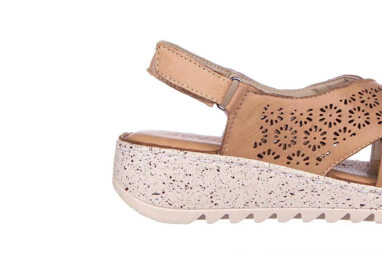 Sandały bayla-161 016 921 cappuccino 161192, brąz, skóra naturalna - sandały - buty damskie - kobieta 15