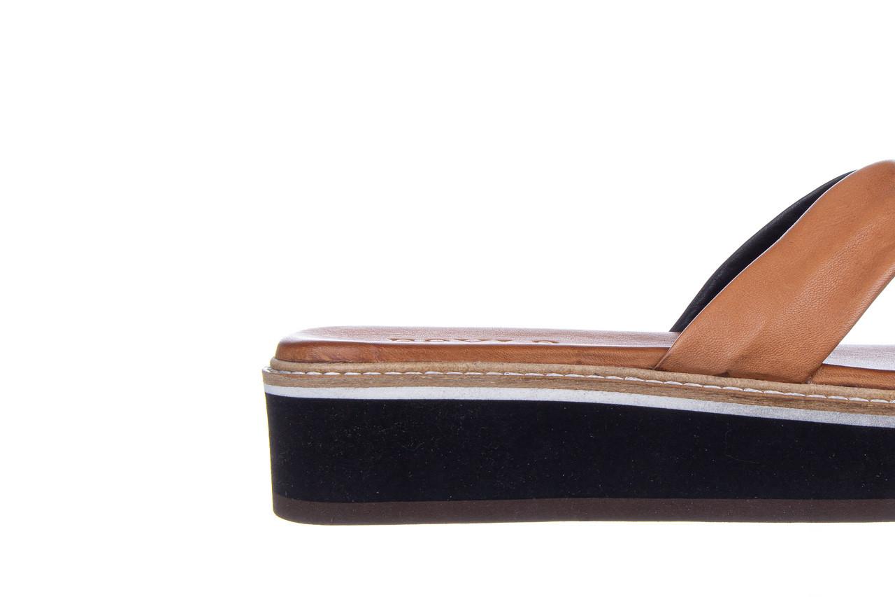 Klapki bayla-161 105 6004 black tan 161214, czarny/ brąz, skóra naturalna  - klapki - buty damskie - kobieta 13
