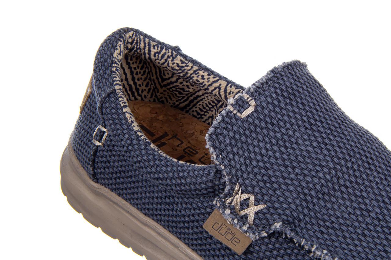 Półbuty heydude mikka braided deep blue 003196, granat, materiał - buty męskie - mężczyzna 13