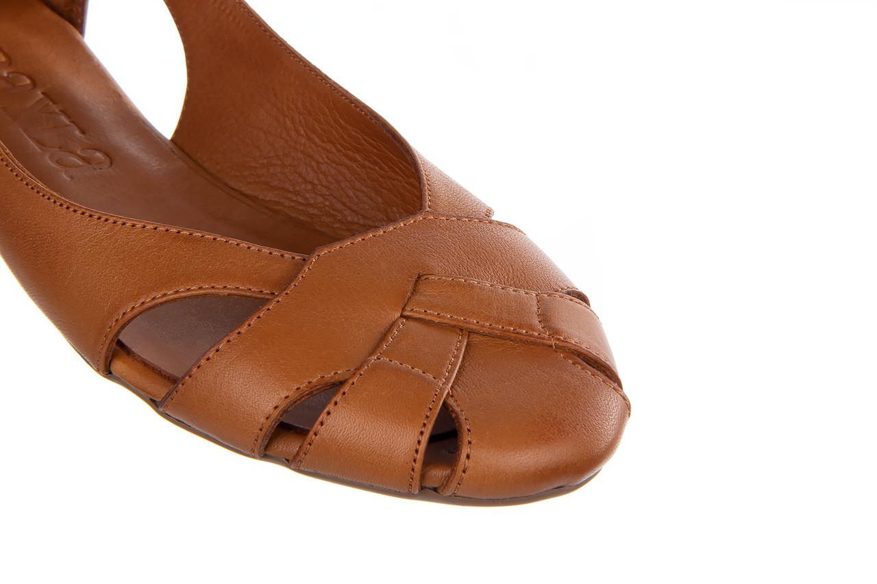 Baleriny bayla-161 093 6047 coconut 161209, brąz, skóra naturalna  - skórzane - baleriny - buty damskie - kobieta 14