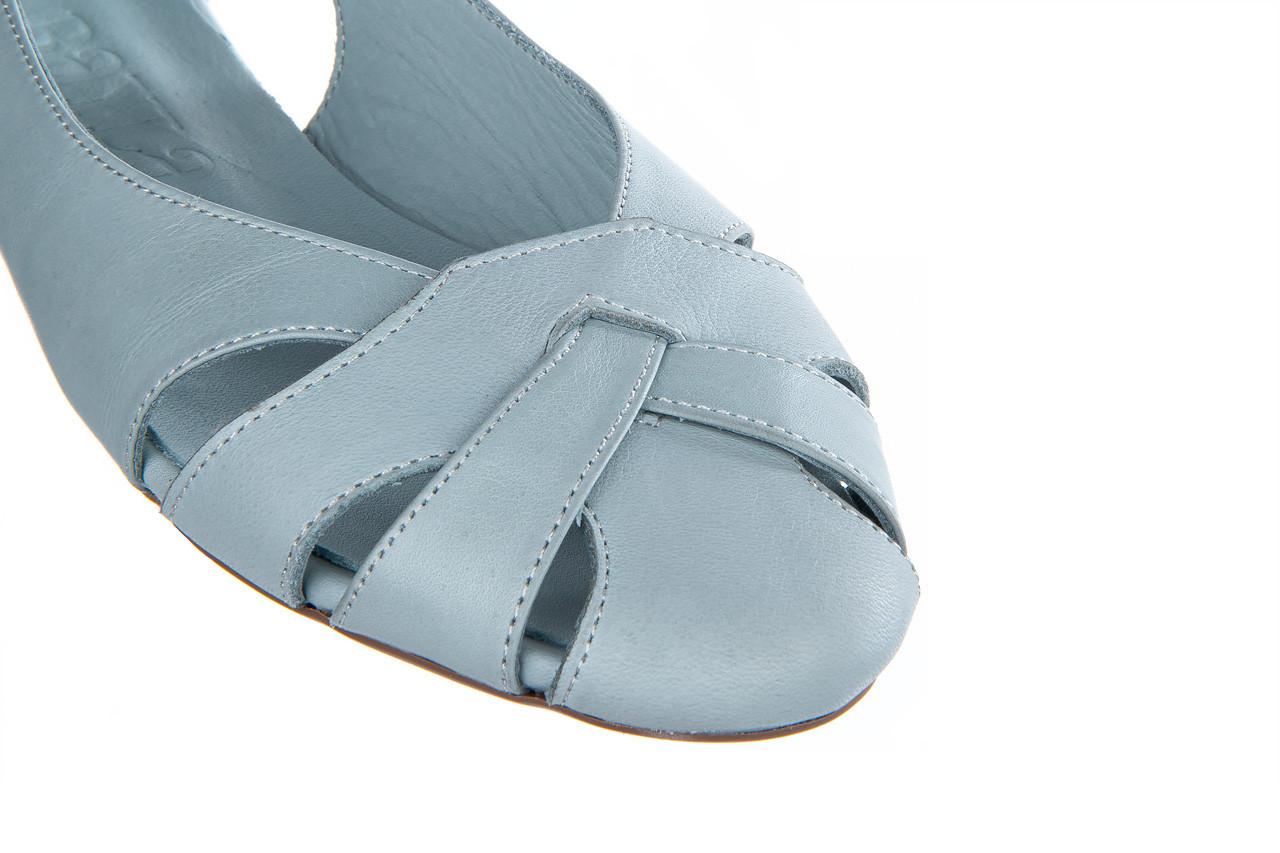 Baleriny bayla-161 138 1560 fresh 161220, niebieski, skóra naturalna - skórzane - baleriny - buty damskie - kobieta 15