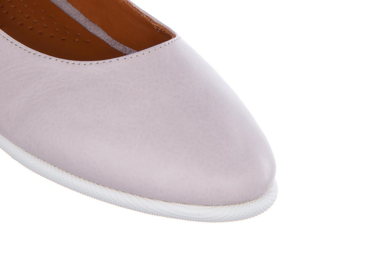 Baleriny bayla-161 059 f007 34 silver grey 161230, beż, skóra naturalna  - skórzane - baleriny - buty damskie - kobieta 13