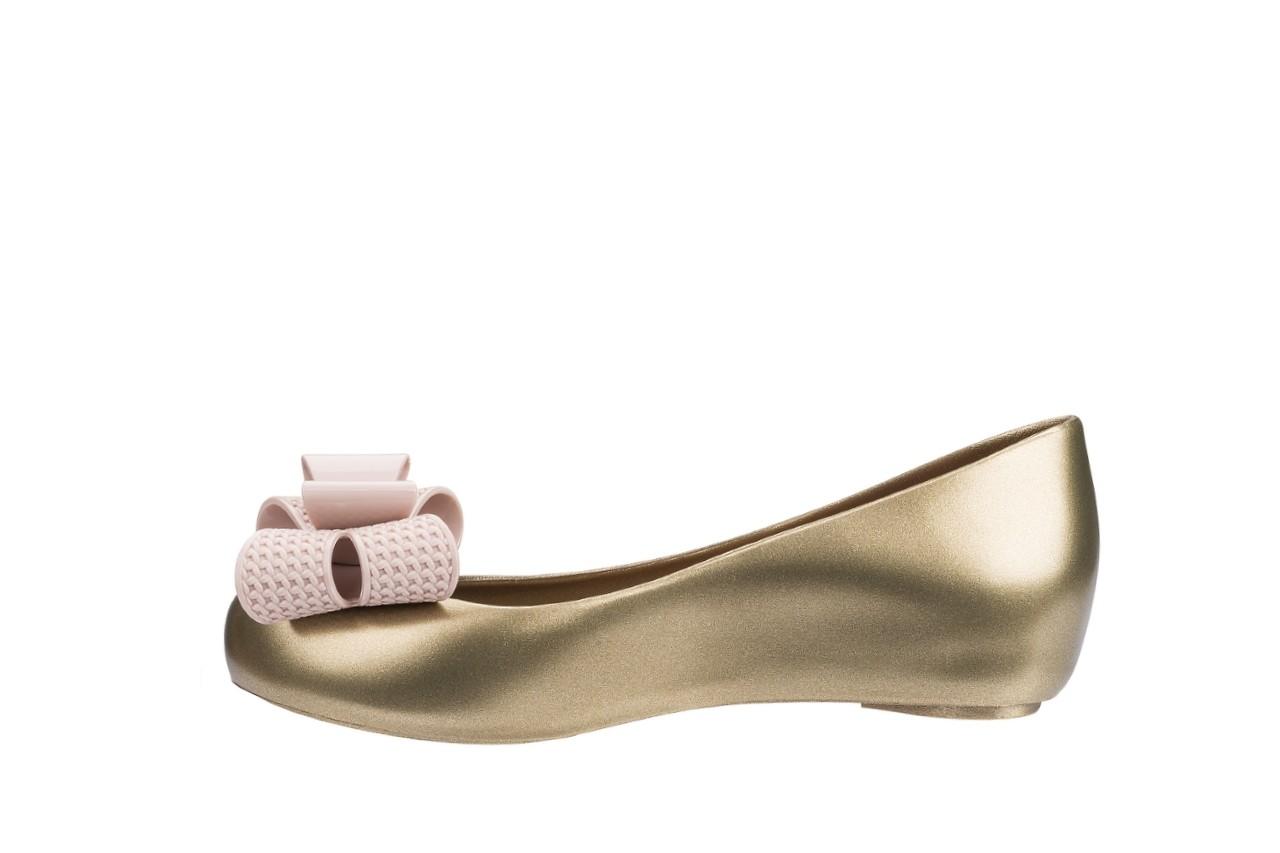 Baleriny melissa ultragirl sweet xv ad gold pink, złoty, guma - melissa - nasze marki 5