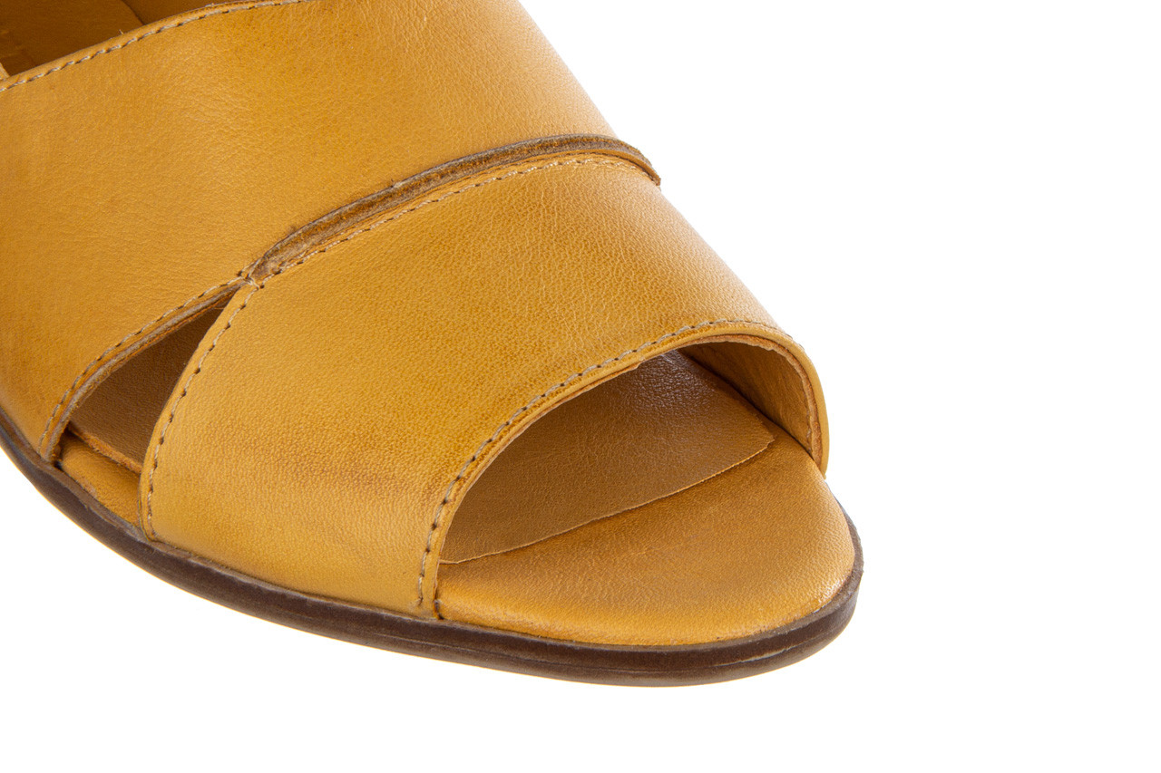 Baleriny bayla-161 138 80123 noce 161225, żółty, skóra naturalna  - skórzane - baleriny - buty damskie - kobieta 15