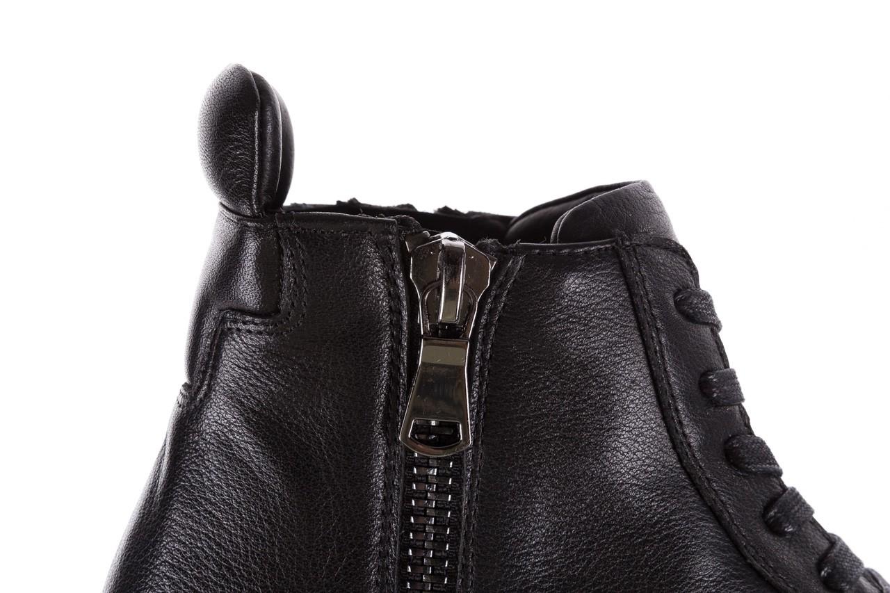 Sneakersy john doubare m5761-1 black, czarny , skóra naturalna  - trendy - mężczyzna 18