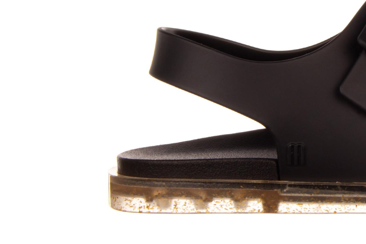 Sandały melissa wide sandal ad black rice husk 010358, czarny, guma - nowości 14