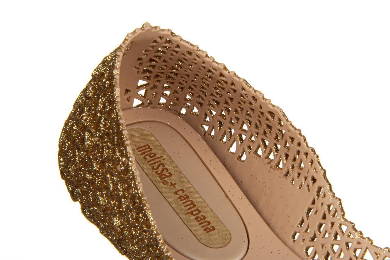 Baleriny melissa campana papel vii ad beige glitter 21 010364, złoty, guma - baleriny - melissa - nasze marki 12