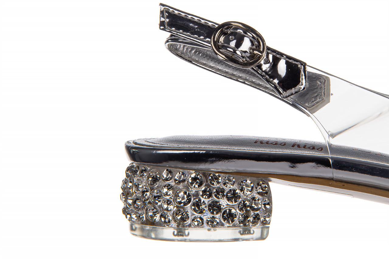 Sandały sca'viola g-15 silver 21 047183, srebro, silikon  - na obcasie - sandały - buty damskie - kobieta 16
