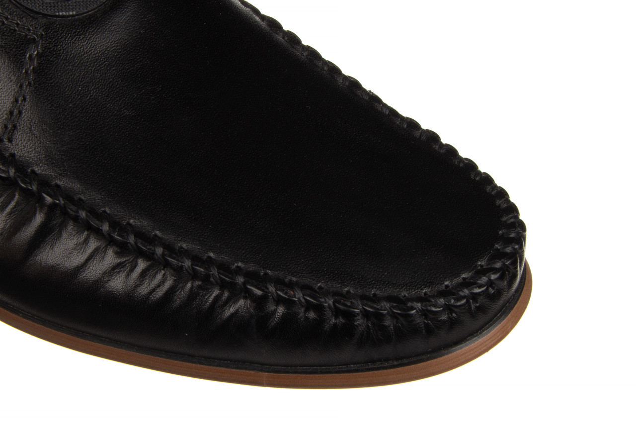 Mokasyny john doubare ygc-z2154-301-10 black 104174, czarny, skóra naturalna  - mokasyny i espadryle - buty męskie - mężczyzna 16