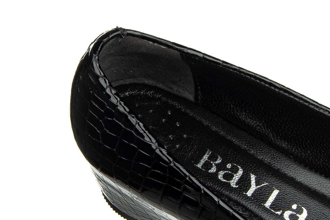 Baleriny bayla-187 105 black 187013, czarny, skóra naturalna  - bayla - nasze marki 13