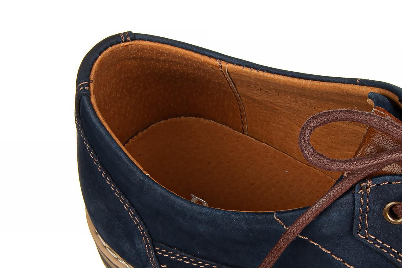 Półbuty bayla-081 831 juma blue ax, granat, skóra naturalna  - wizytowe - półbuty - buty męskie - mężczyzna 14