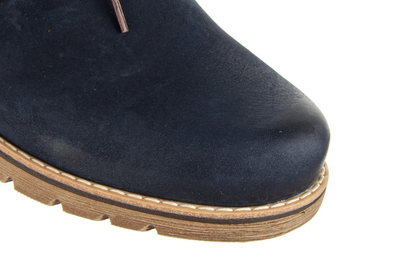 Półbuty bayla-081 761 juma blue ax 081079, granat, skóra naturalna  - nowości 13