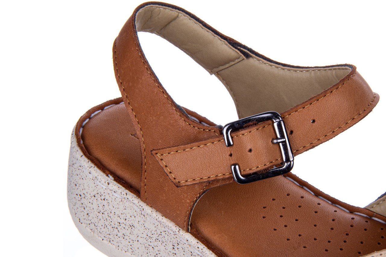 Sandały bayla-161 016 981 beige coconut 161197, brąz/ beż, skóra naturalna  - bayla - nasze marki 15