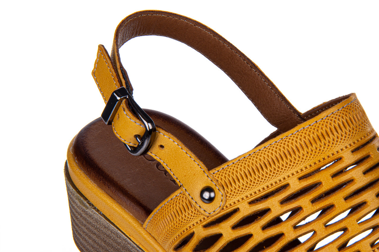 Sandały bayla-161 061 1600 noce 161200, żółty, skóra naturalna  - bayla - nasze marki 13