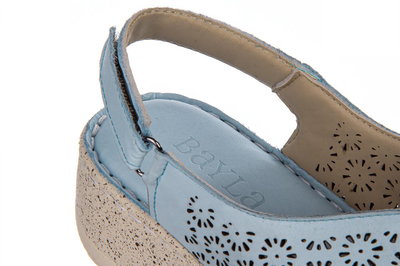Sandały bayla-161 016 921 starlight blue 161194, niebieski, skóra naturalna  - bayla - nasze marki 15