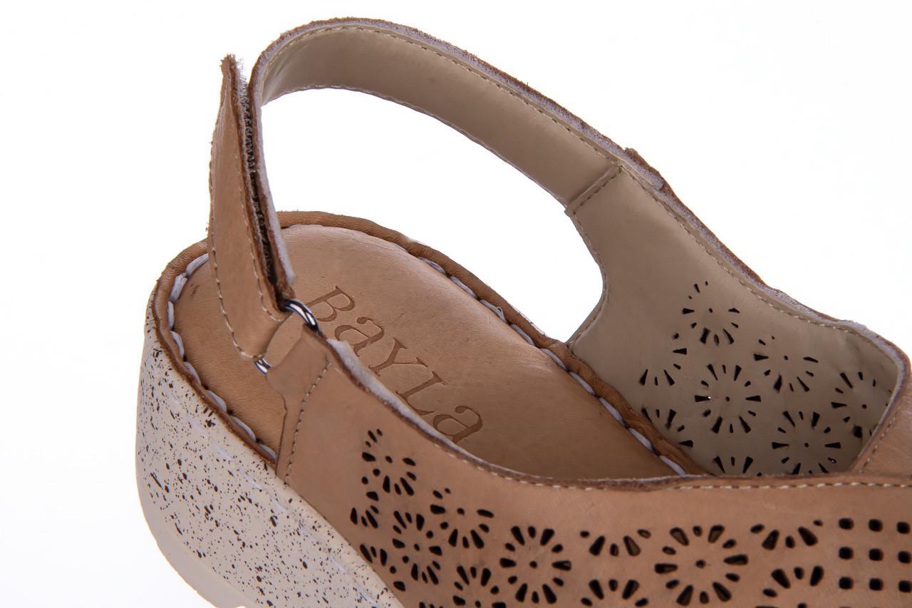 Sandały bayla-161 016 921 cappuccino 161192, brąz, skóra naturalna - sandały - buty damskie - kobieta 16