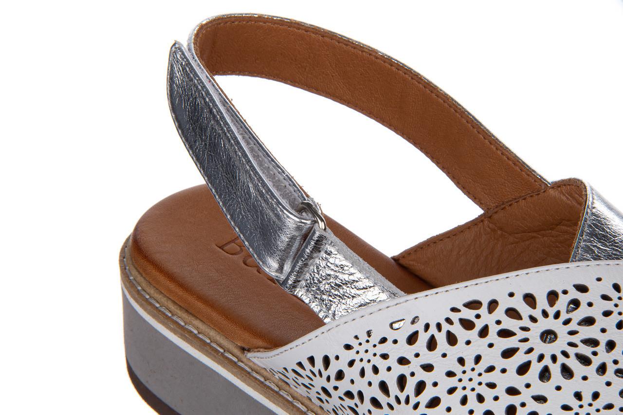Sandały bayla-161 105 2014 white silver 161213, srebrny/ biały, skóra naturalna  - bayla - nasze marki 15