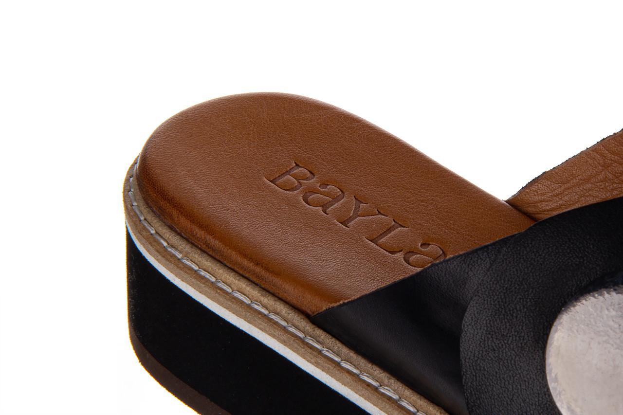 Klapki bayla-161 105 2006 black 161211, czarny, skóra naturalna  - bayla - nasze marki 15
