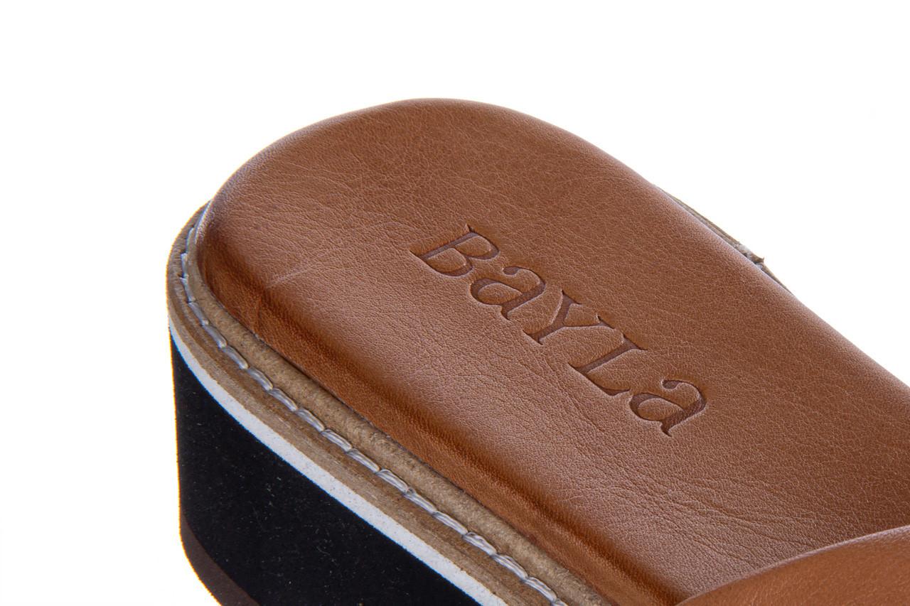 Klapki bayla-161 105 6004 black tan 161214, czarny/ brąz, skóra naturalna  - klapki - buty damskie - kobieta 15