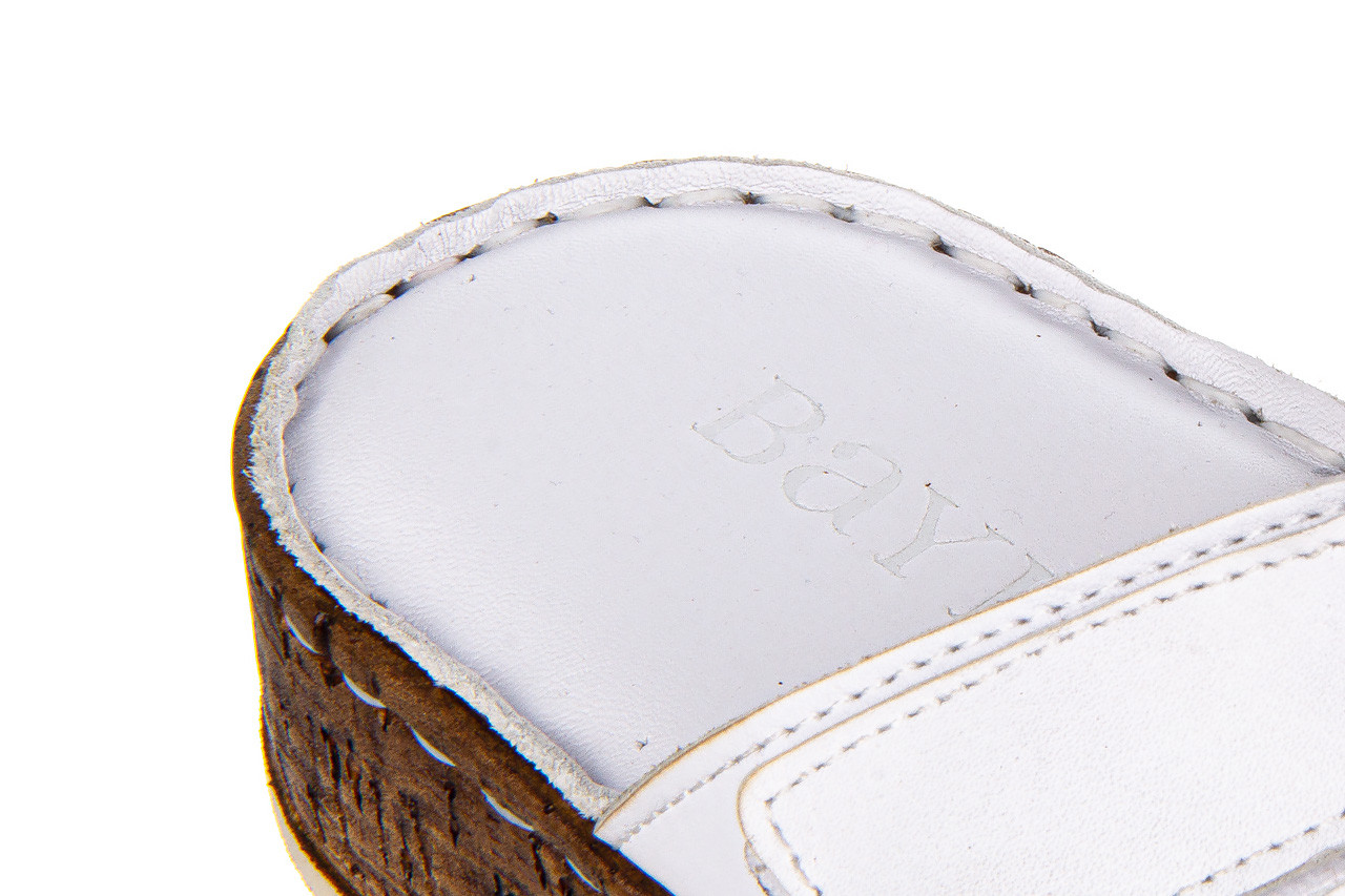 Klapki bayla-161 016 460 white 161189, biały, skóra naturalna  - bayla - nasze marki 15