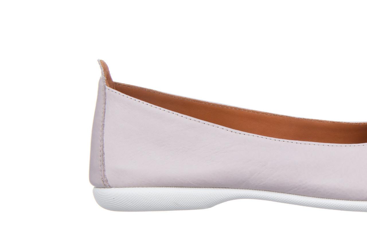 Baleriny bayla-161 059 f007 34 silver grey 161230, beż, skóra naturalna  - skórzane - baleriny - buty damskie - kobieta 15
