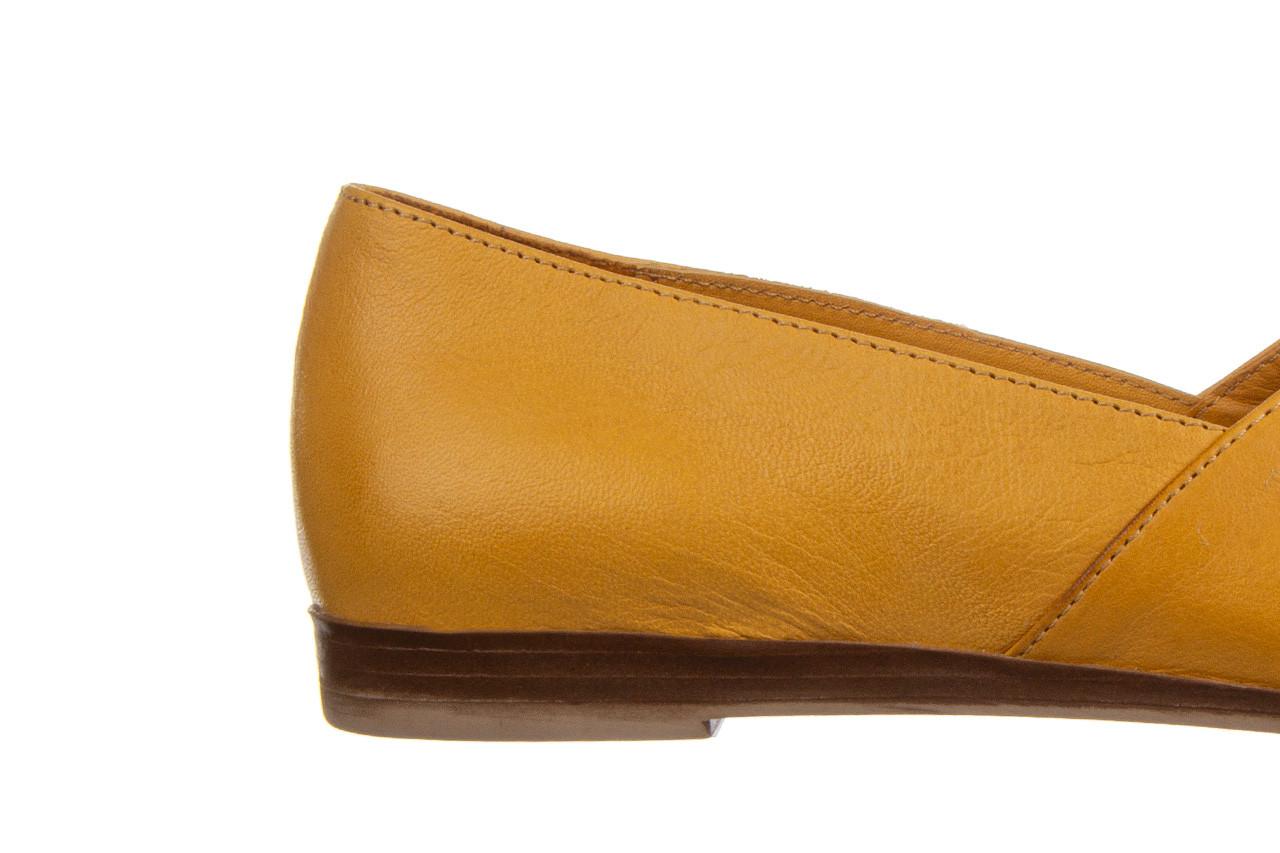 Baleriny bayla-161 138 80123 noce 161225, żółty, skóra naturalna  - skórzane - baleriny - buty damskie - kobieta 13