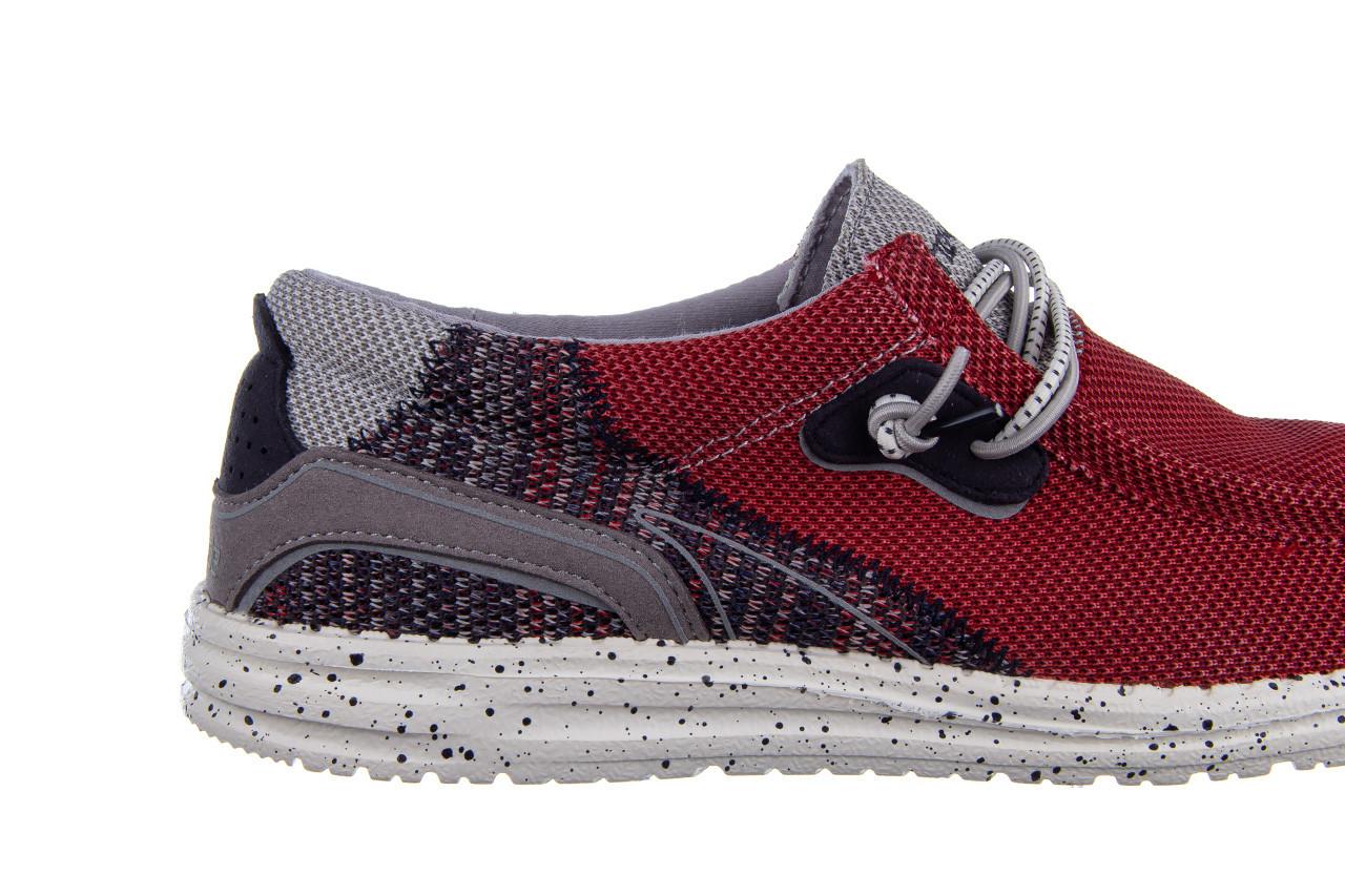 Półbuty heydude wally hawk lava grey 003200, czerwony, materiał - trendy - mężczyzna 14