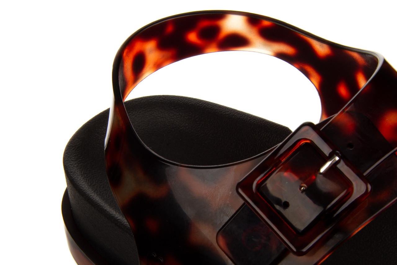 Sandały melissa wide platform ad black turtoise 010362, czarny/ brąz, guma - nowości 15