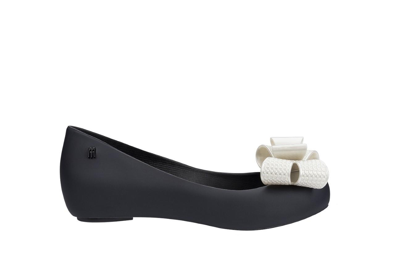 Baleriny melissa ultragirl sweet xv ad black white metalized, czarny/biały, guma - melissa - nasze marki 3