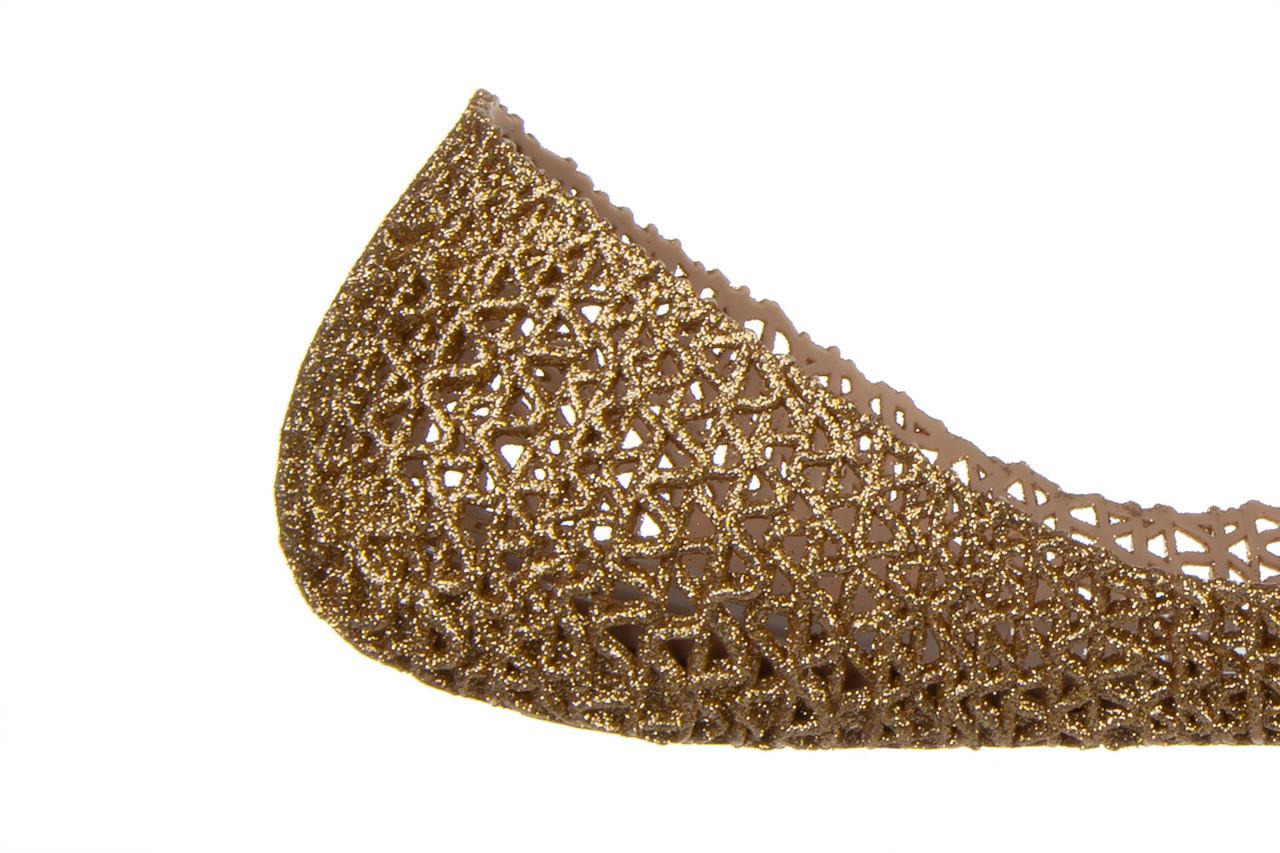 Baleriny melissa campana papel vii ad beige glitter 21 010364, złoty, guma - baleriny - melissa - nasze marki 13