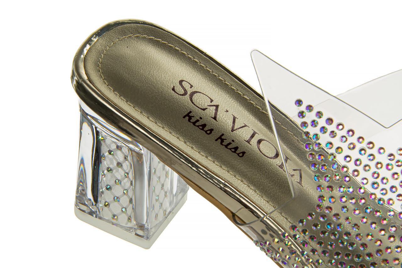 Klapki sca'viola g-59 gold 047189, złoty, silikon - klapki - buty damskie - kobieta 17