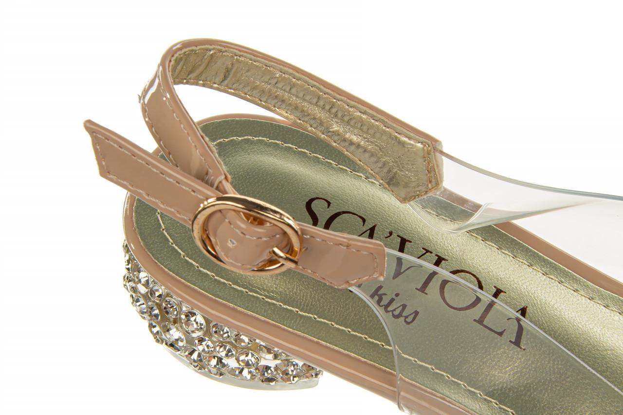 Sandały sca'viola g-15 l pink 21 047182, róż, silikon - na obcasie - sandały - buty damskie - kobieta 18