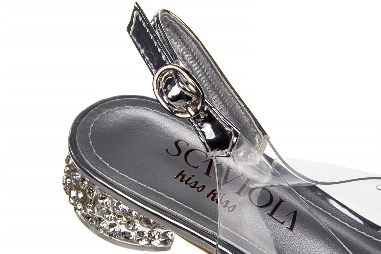 Sandały sca'viola g-15 silver 21 047183, srebro, silikon  - na obcasie - sandały - buty damskie - kobieta 18