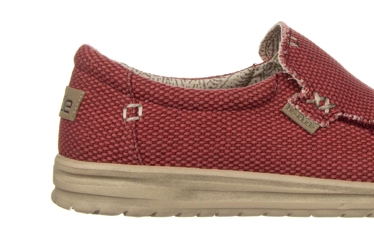 Półbuty heydude mikka braided pompeian red 003215, czerwony, materiał  - nowości 15