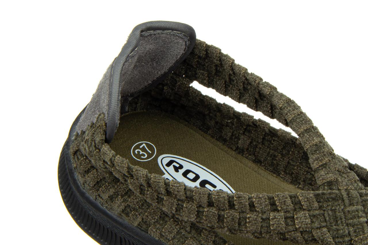 Półbuty rock berta moss cashmere 032815, zielony, materiał - dla niej  - sale 15