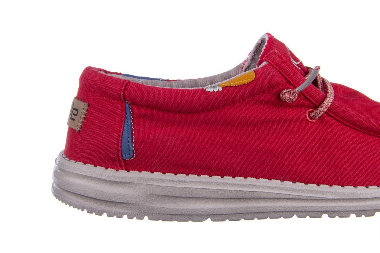 Półbuty heydude wally washed molten lava 003208, czerwony, materiał - trendy - mężczyzna 14