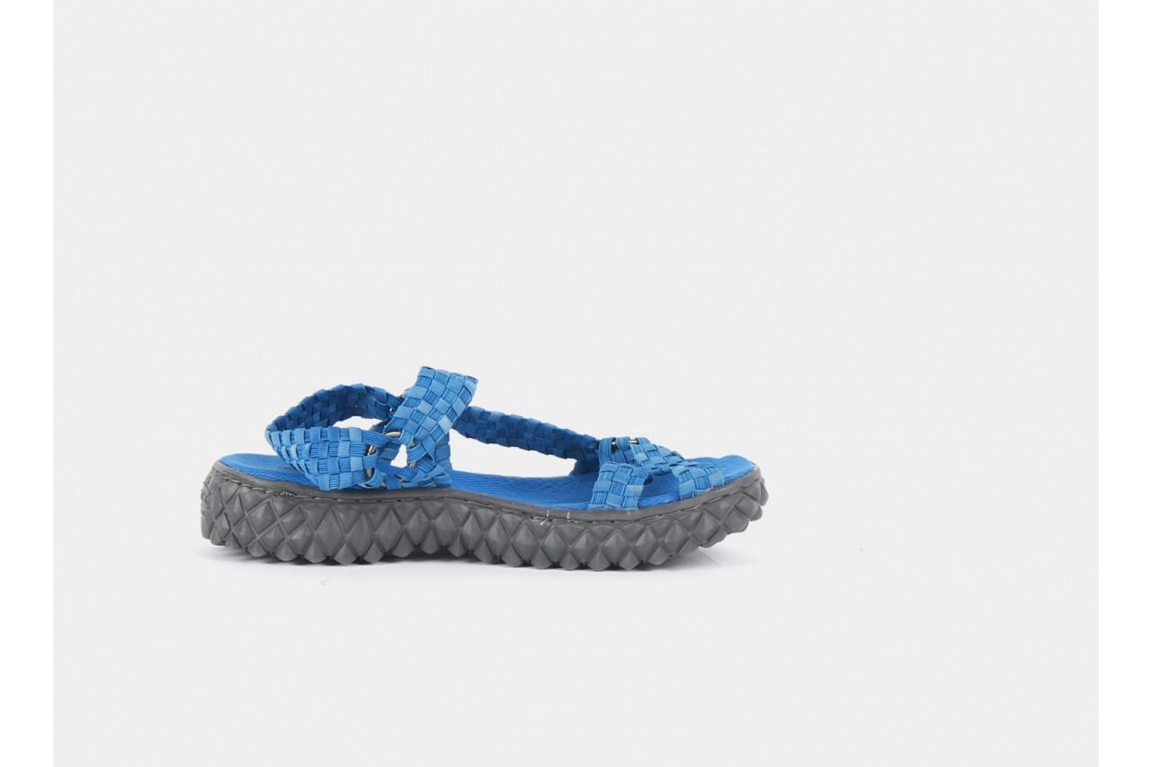 Sandały rock california washed elblue, niebieski, materiał  - rock - nasze marki 10