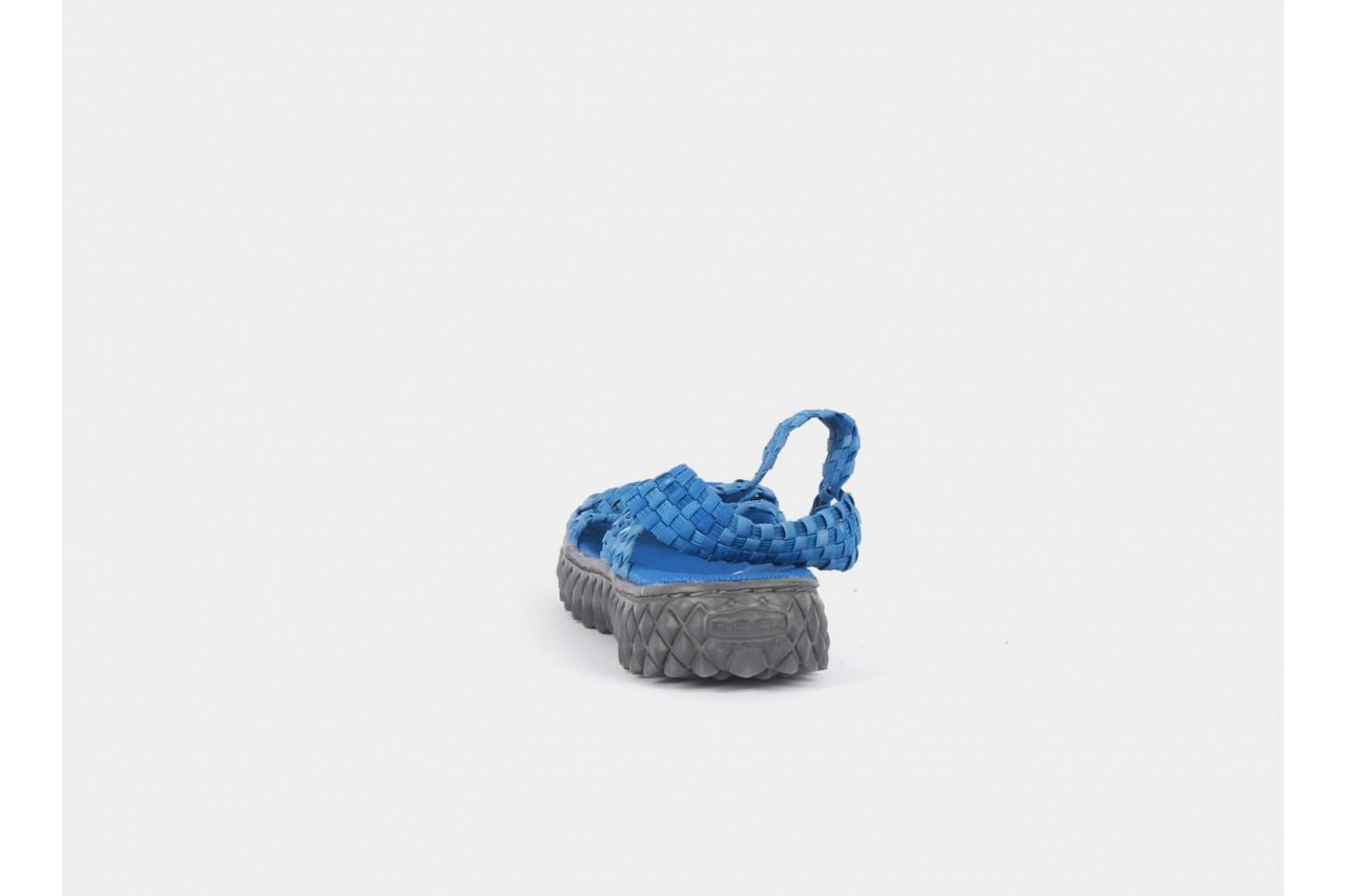Sandały rock california washed elblue, niebieski, materiał  - rock - nasze marki 9