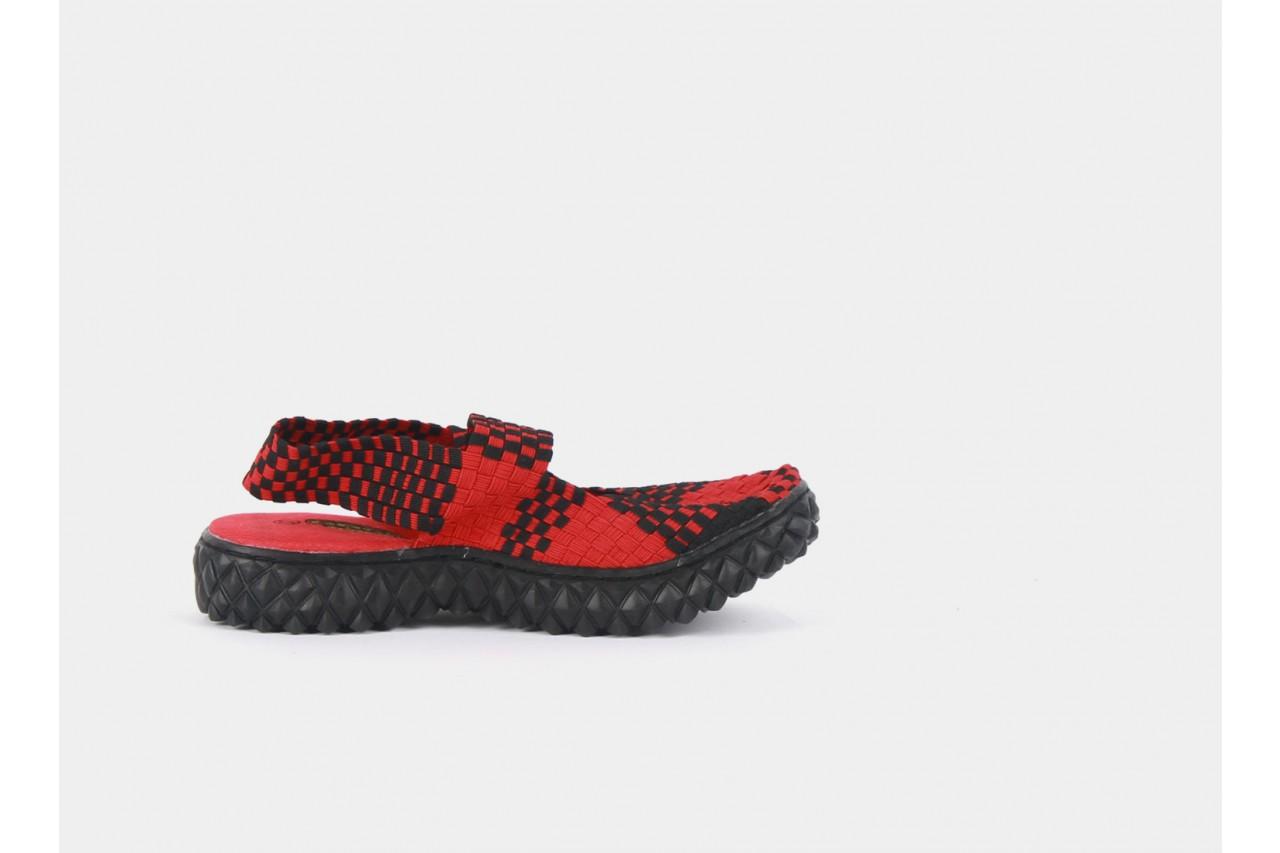 Rock over sandal red-black - rock - nasze marki 8