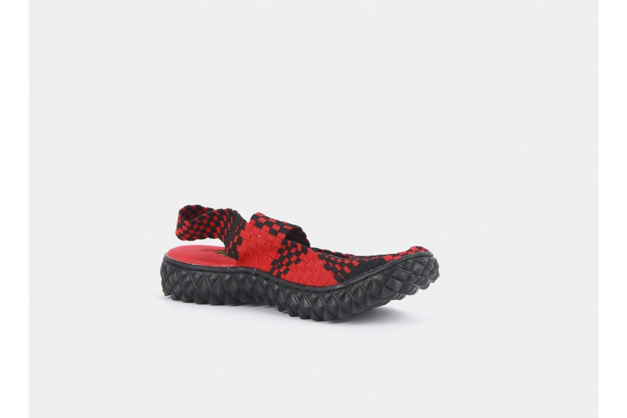 Rock over sandal red-black - rock - nasze marki 9