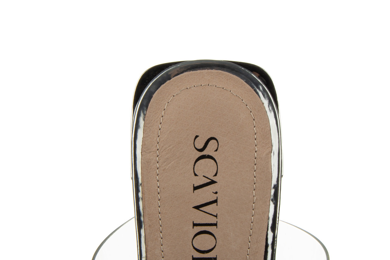 Klapki sca'viola b-205 silver 047180, srebro, silikon - klapki - buty damskie - kobieta 18