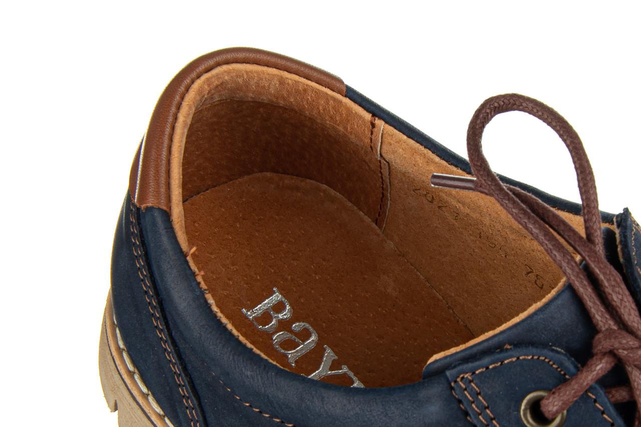 Półbuty bayla-081 761 juma blue ax 081079, granat, skóra naturalna  - nowości 14