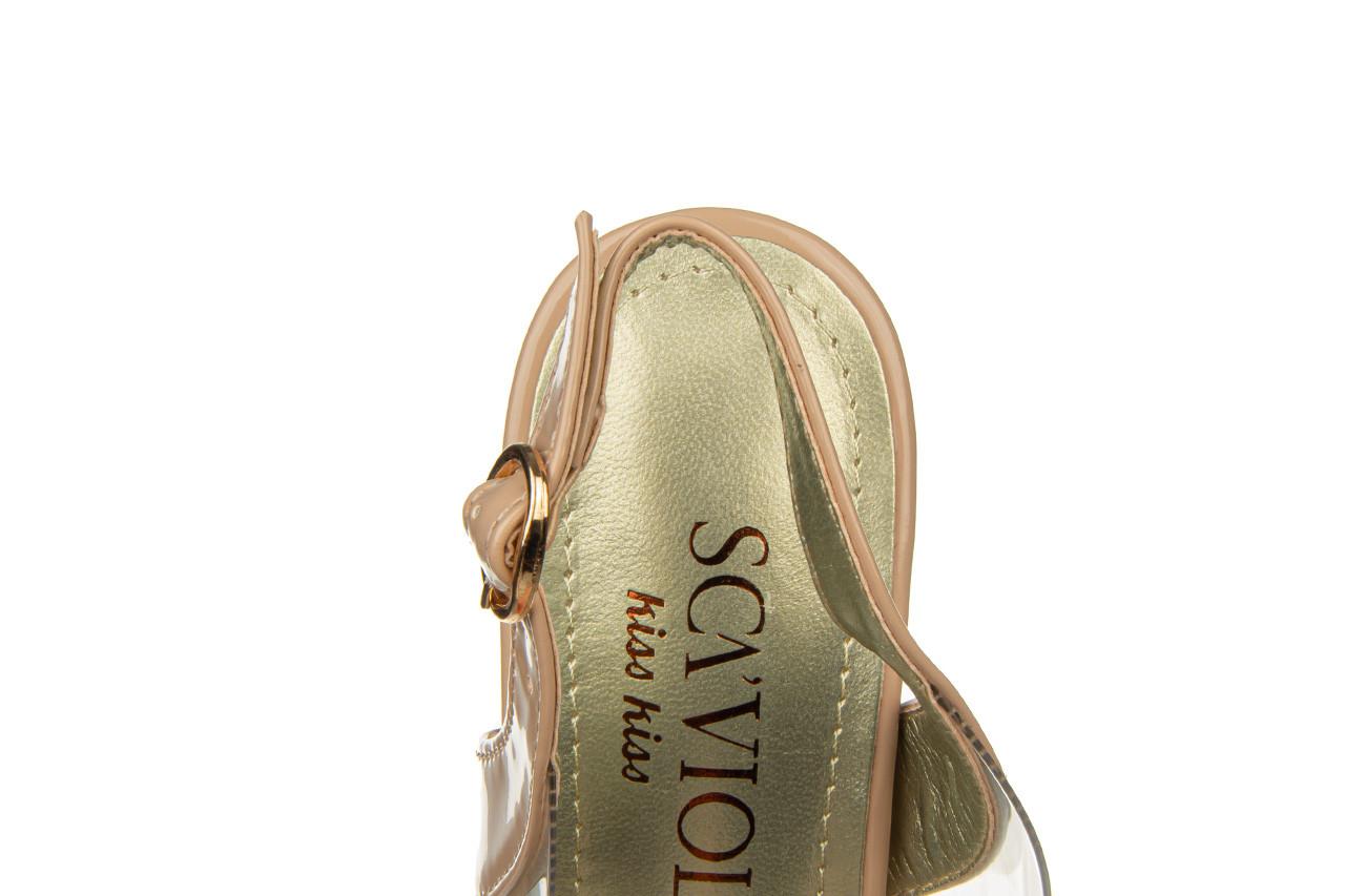 Sandały sca'viola g-15 l pink 21 047182, róż, silikon - na obcasie - sandały - buty damskie - kobieta 17