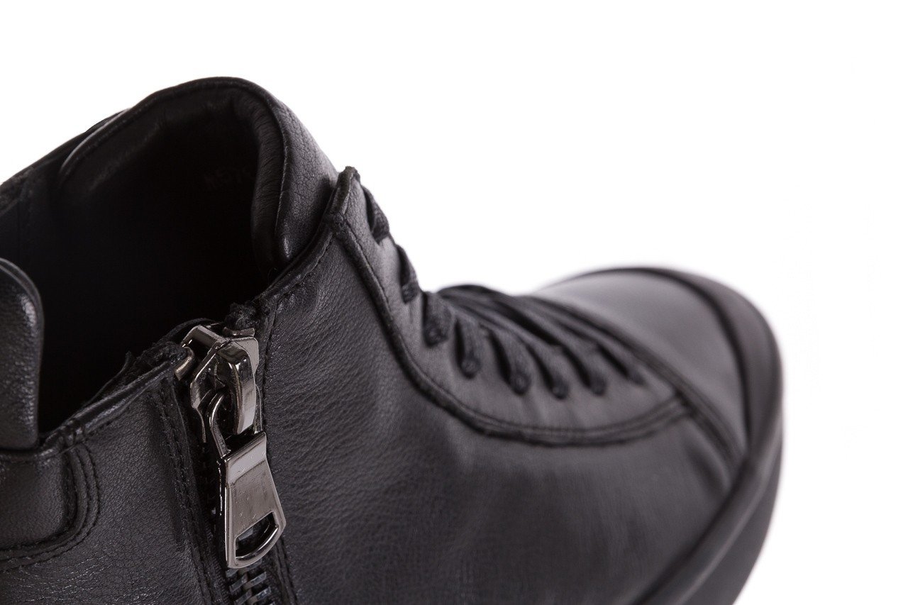Sneakersy john doubare m5761-1 black, czarny , skóra naturalna  - trendy - mężczyzna 20