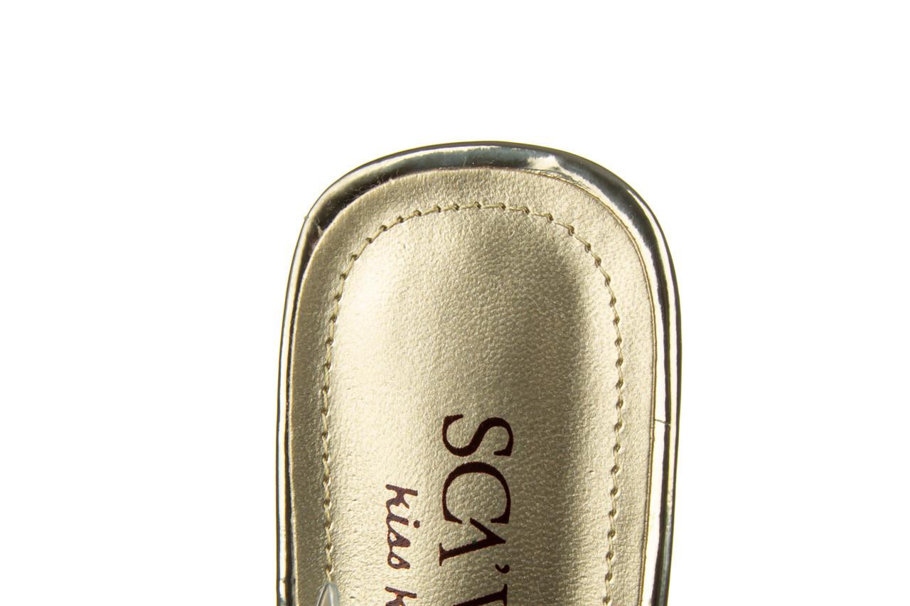 Klapki sca'viola g-59 gold 047189, złoty, silikon - klapki - buty damskie - kobieta 18